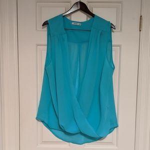 🚩2 for $15 - Ricki's Aqua Blue Chiffon Top